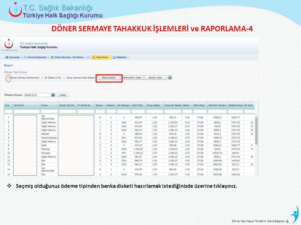 DÖNER SERMAYE TAHAKKUK İŞLEMLERİ ve RAPORLAMA-4