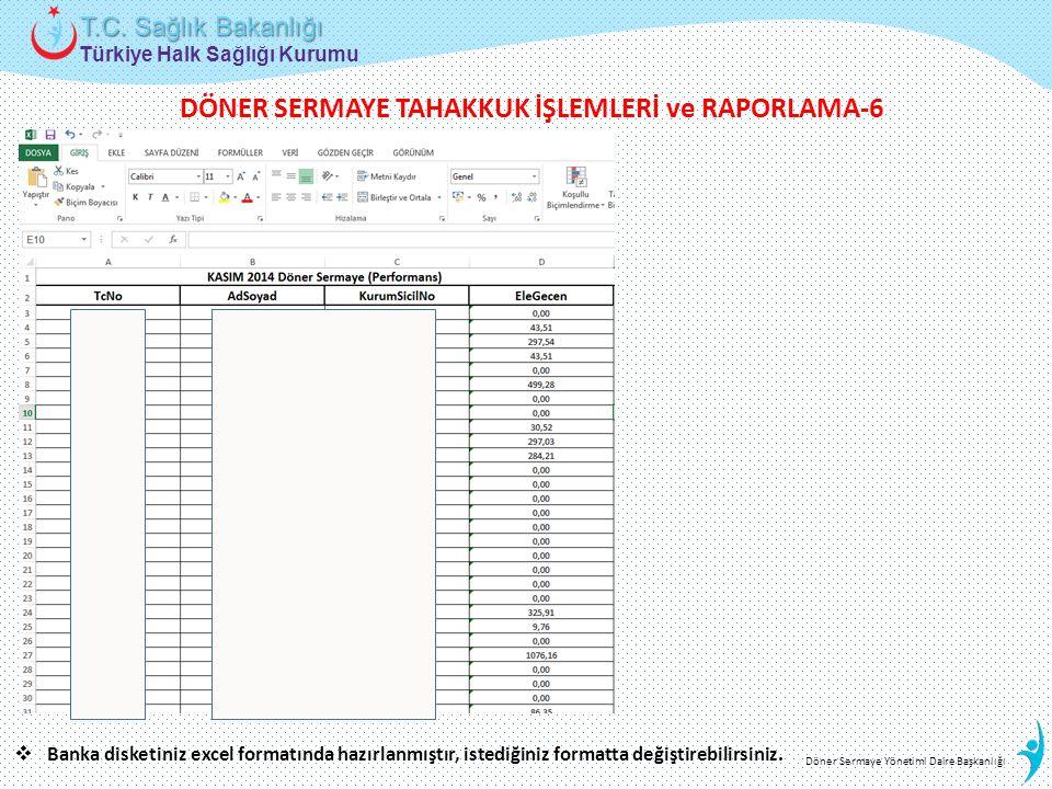 DÖNER SERMAYE TAHAKKUK İŞLEMLERİ ve RAPORLAMA-6