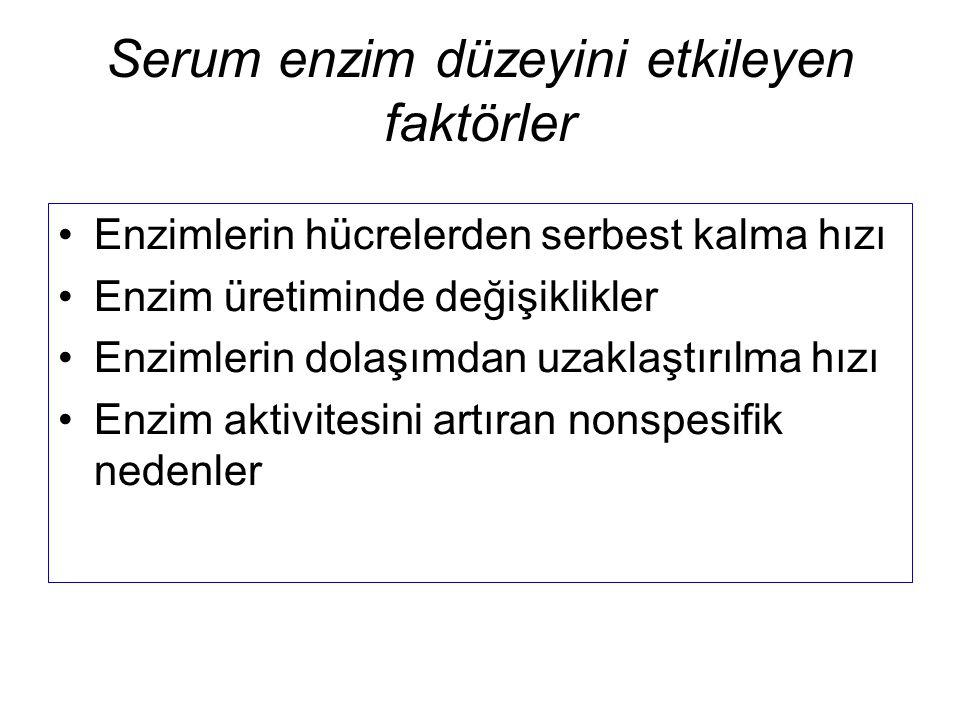 Serum enzim düzeyini etkileyen faktörler