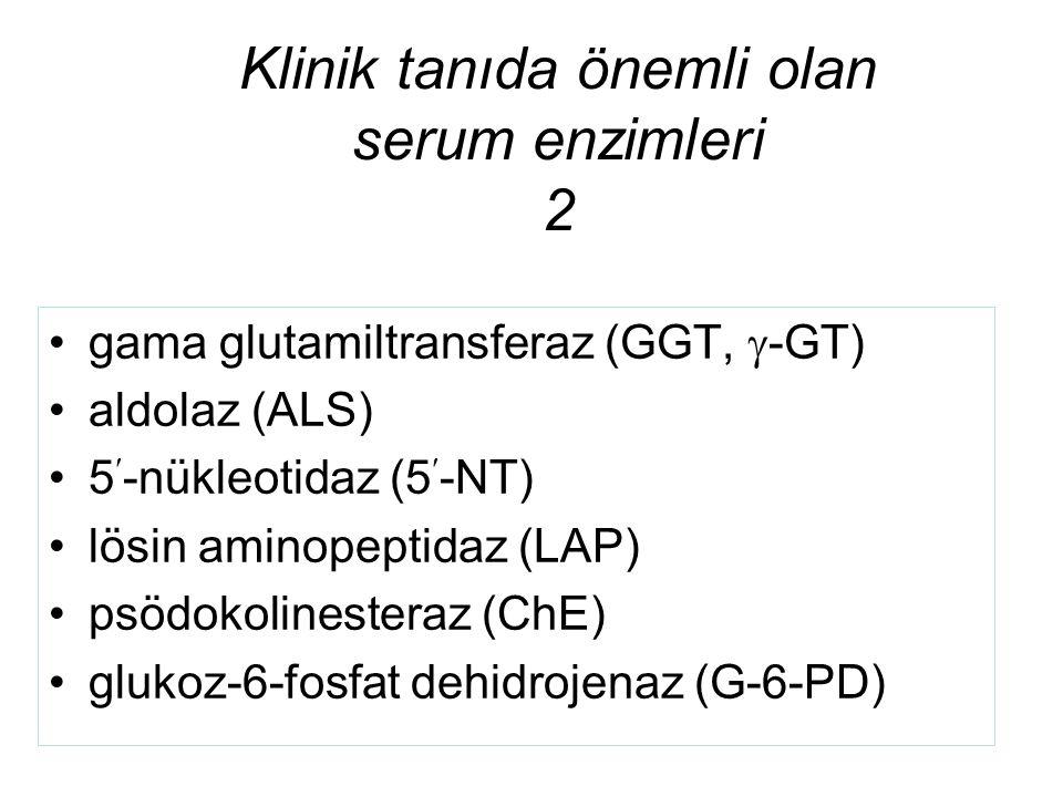 Klinik tanıda önemli olan serum enzimleri 2