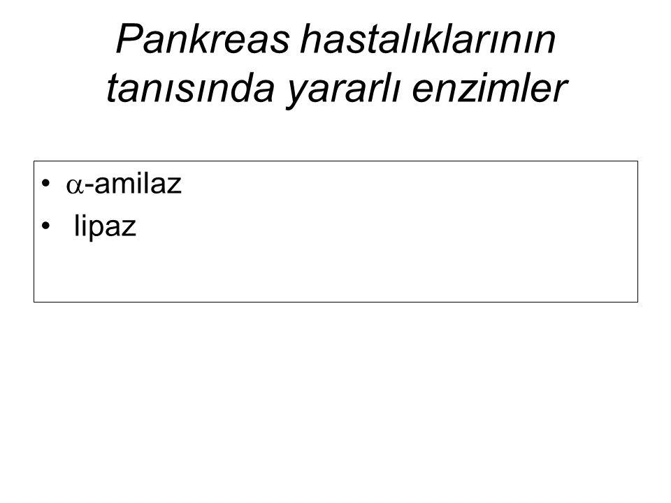 Pankreas hastalıklarının tanısında yararlı enzimler