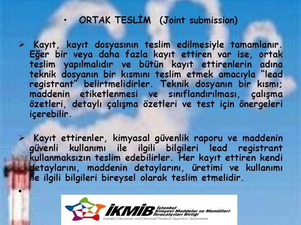 ORTAK TESLİM (Joint submission)