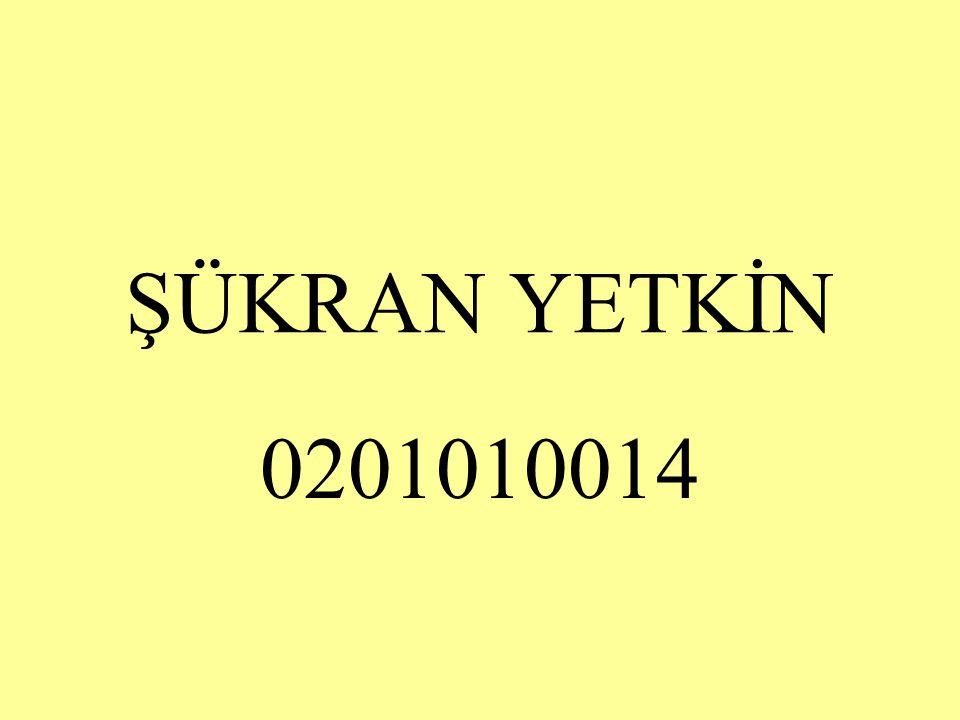 ŞÜKRAN YETKİN 0201010014