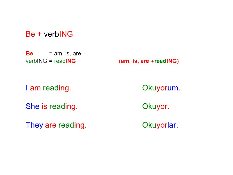 They are reading. Okuyorlar.