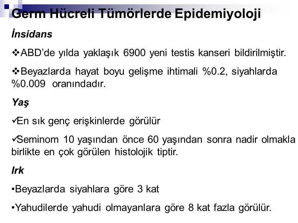 Germ Hücreli Tümörlerde Epidemiyoloji