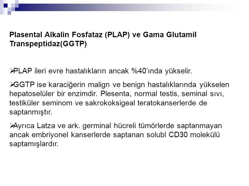 Plasental Alkalin Fosfataz (PLAP) ve Gama Glutamil Transpeptidaz(GGTP)