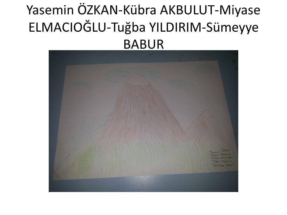 Yasemin ÖZKAN-Kübra AKBULUT-Miyase ELMACIOĞLU-Tuğba YILDIRIM-Sümeyye BABUR