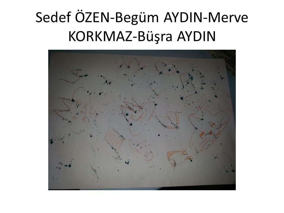 Sedef ÖZEN-Begüm AYDIN-Merve KORKMAZ-Büşra AYDIN