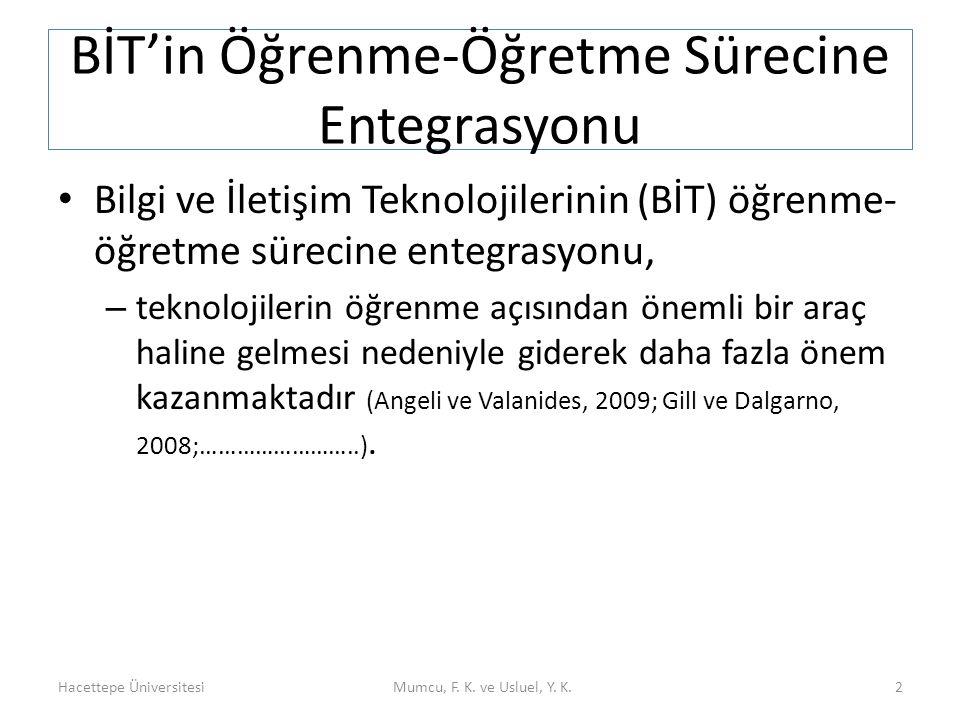 BİT'in Öğrenme-Öğretme Sürecine Entegrasyonu