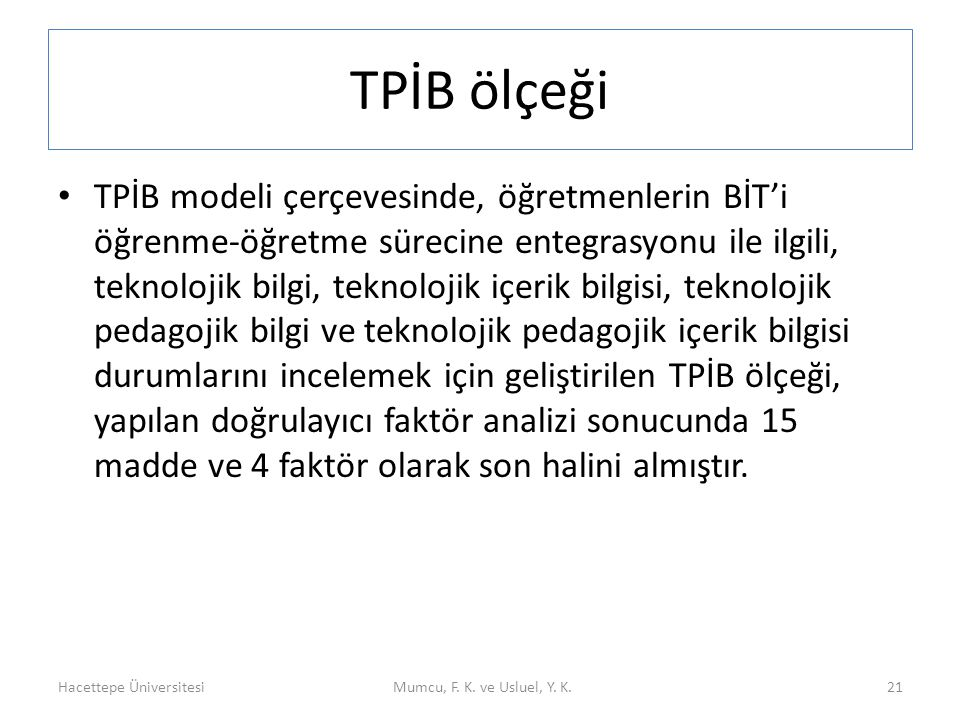 TPİB ölçeği