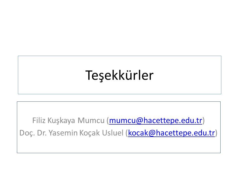Teşekkürler Filiz Kuşkaya Mumcu (mumcu@hacettepe.edu.tr)