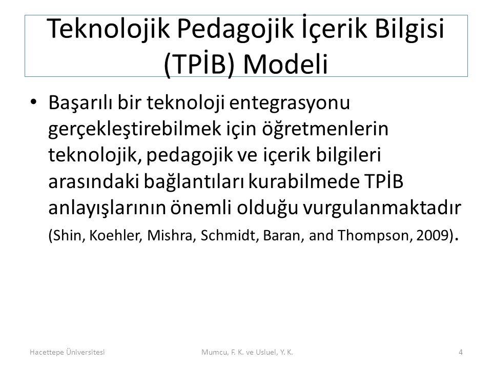 Teknolojik Pedagojik İçerik Bilgisi (TPİB) Modeli