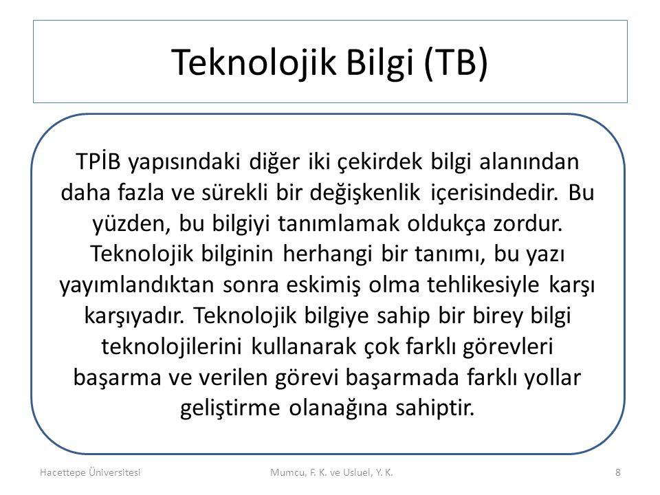Teknolojik Bilgi (TB)