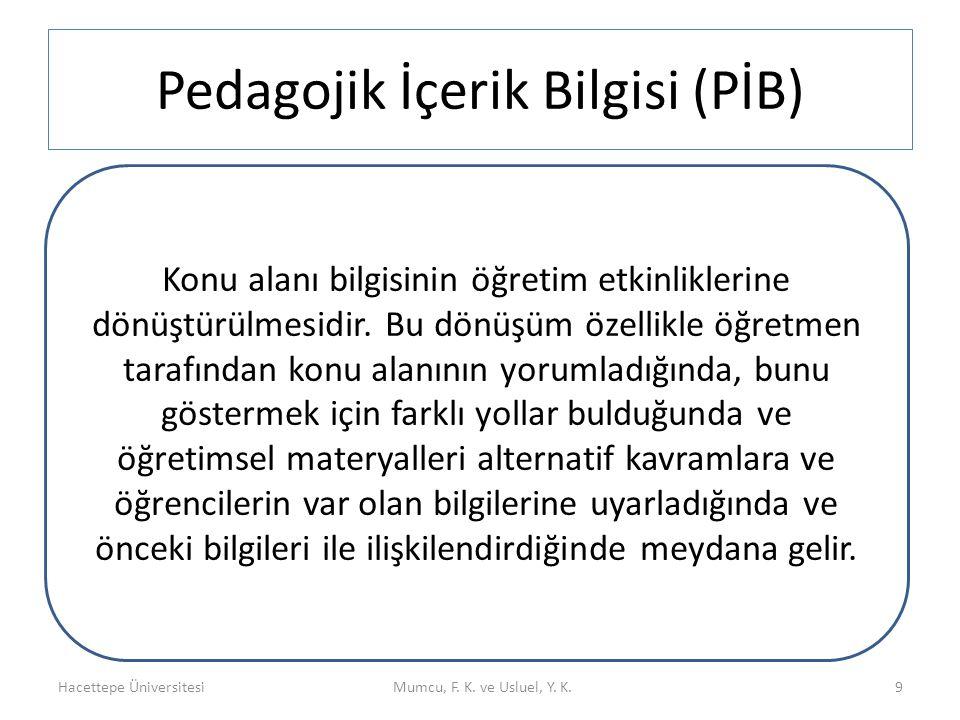 Pedagojik İçerik Bilgisi (PİB)