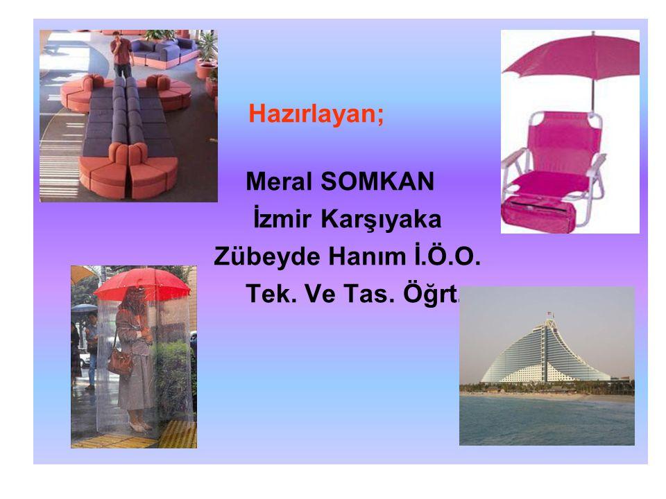 Hazırlayan; Meral SOMKAN İzmir Karşıyaka Zübeyde Hanım İ.Ö.O. Tek. Ve Tas. Öğrt.