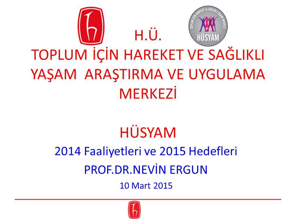 Faaliyetleri ve 2015 Hedefleri PROF.DR.NEVİN ERGUN 10 Mart 2015