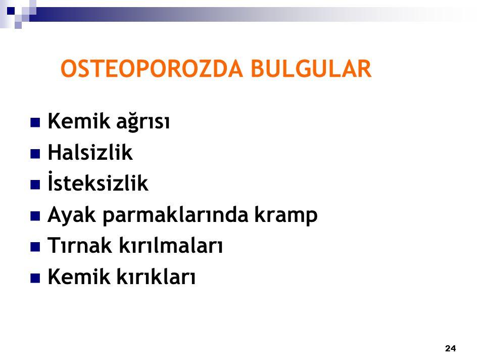 OSTEOPOROZDA BULGULAR