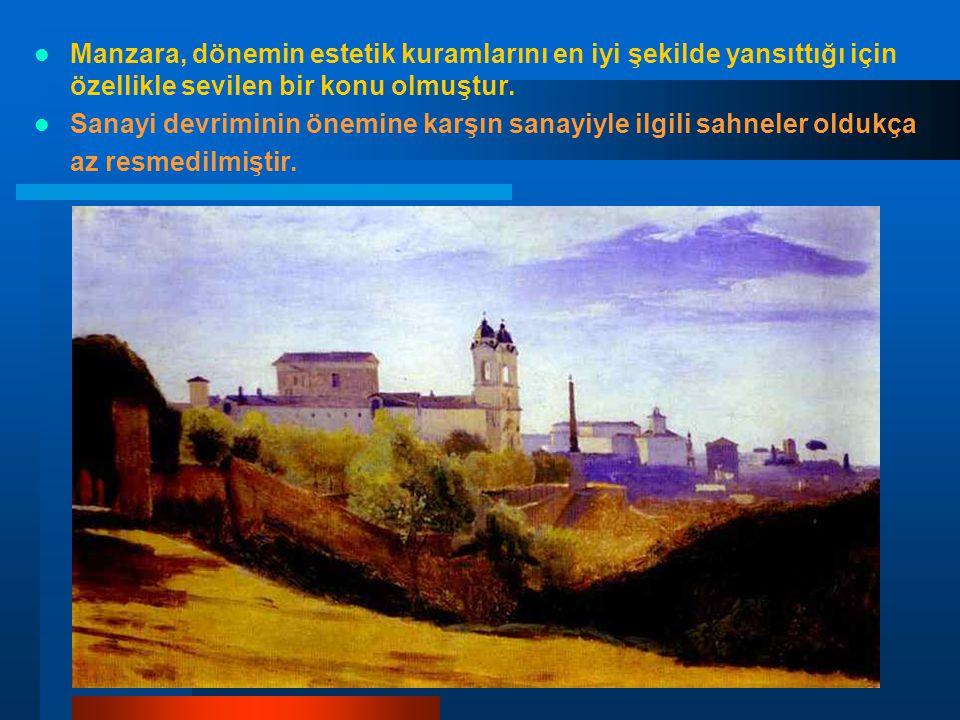 Manzara, dönemin estetik kuramlarını en iyi şekilde yansıttığı için özellikle sevilen bir konu olmuştur.