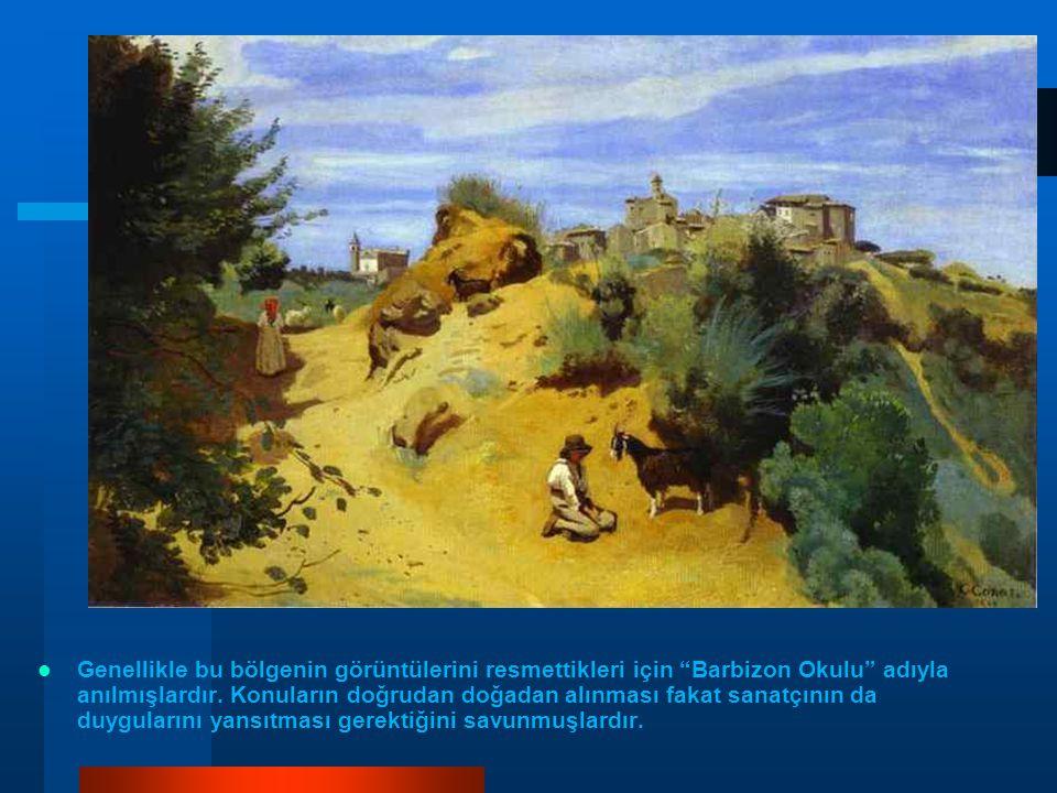 Genellikle bu bölgenin görüntülerini resmettikleri için Barbizon Okulu adıyla anılmışlardır.