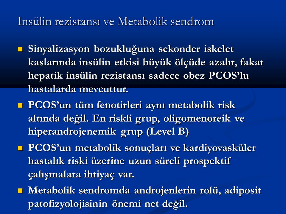 Insülin rezistansı ve Metabolik sendrom