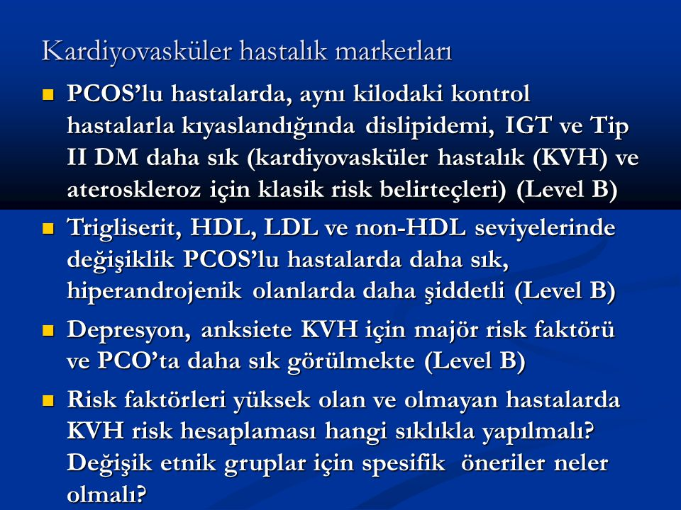 Kardiyovasküler hastalık markerları