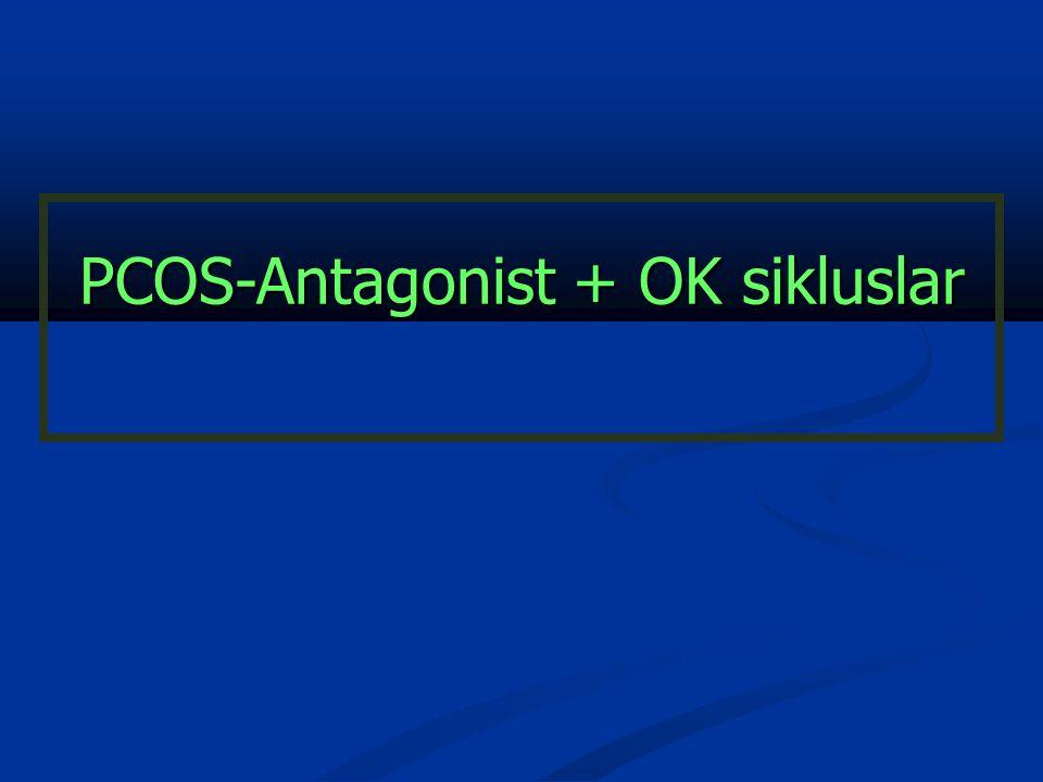 PCOS-Antagonist + OK sikluslar