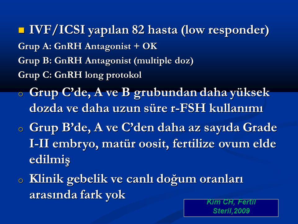 IVF/ICSI yapılan 82 hasta (low responder)