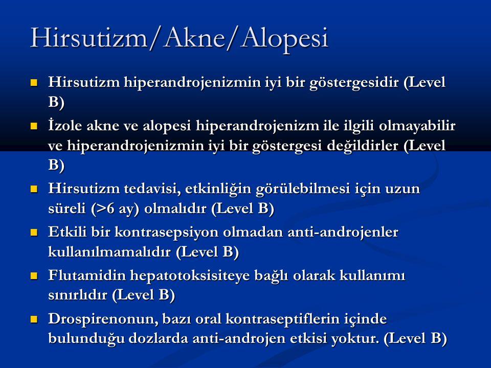 Hirsutizm/Akne/Alopesi