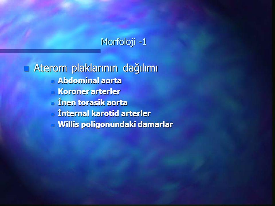 Aterom plaklarının dağılımı