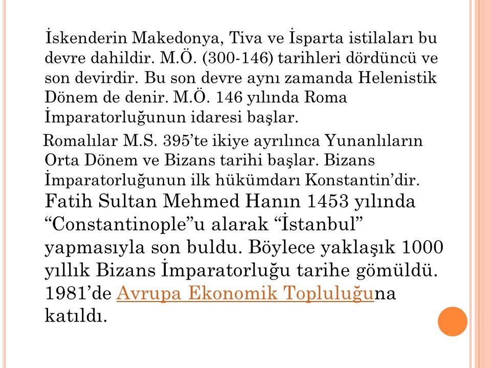 İskenderin Makedonya, Tiva ve İsparta istilaları bu devre dahildir. M