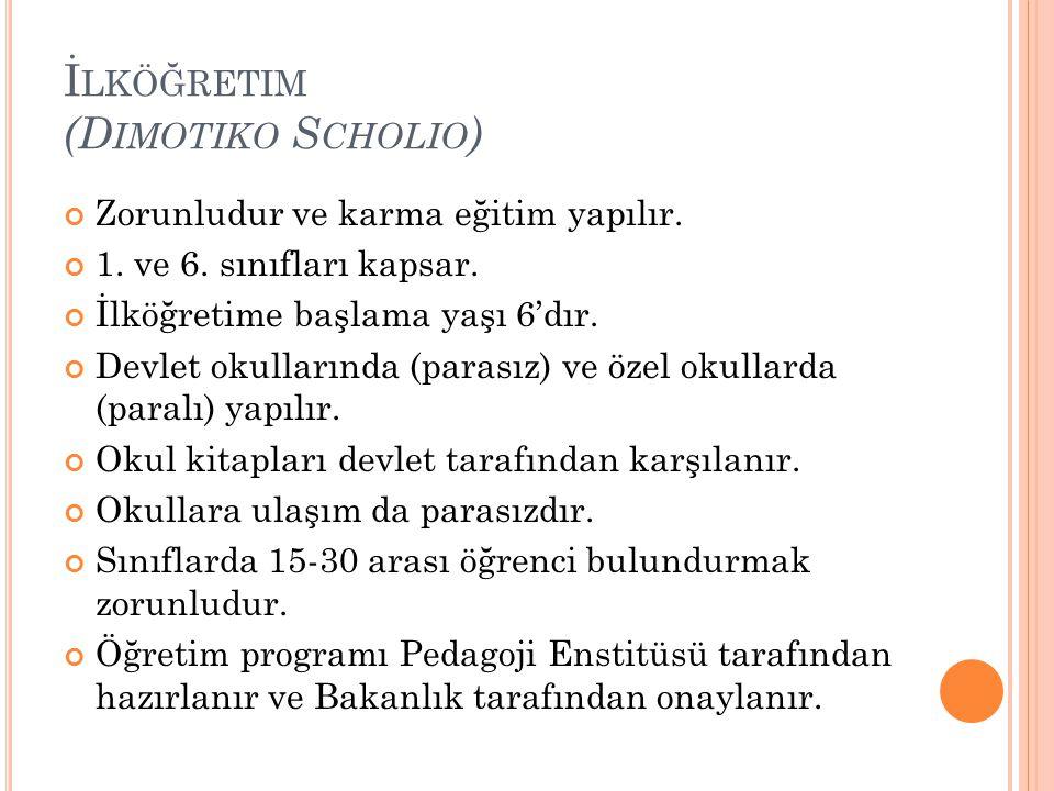 İlköğretim (Dimotiko Scholio)