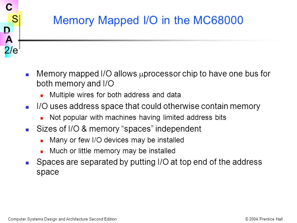Memory Mapped I/O in the MC68000