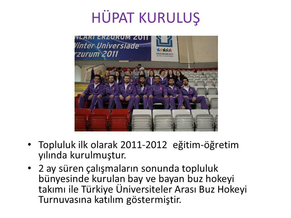 HÜPAT KURULUŞ Topluluk ilk olarak 2011-2012 eğitim-öğretim yılında kurulmuştur.