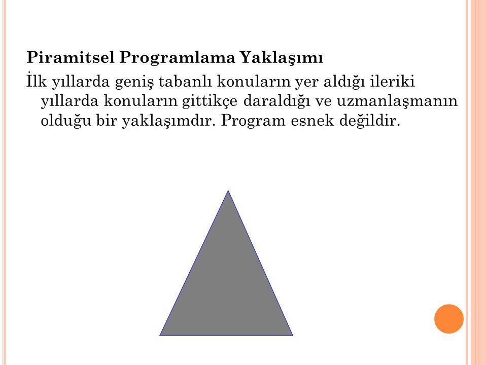 Piramitsel Programlama Yaklaşımı