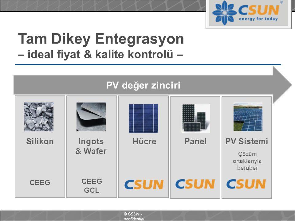 Tam Dikey Entegrasyon – ideal fiyat & kalite kontrolü –