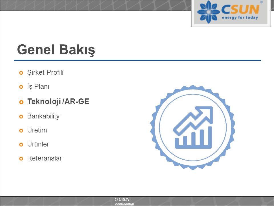 Genel Bakış Teknoloji /AR-GE Şirket Profili İş Planı Bankability