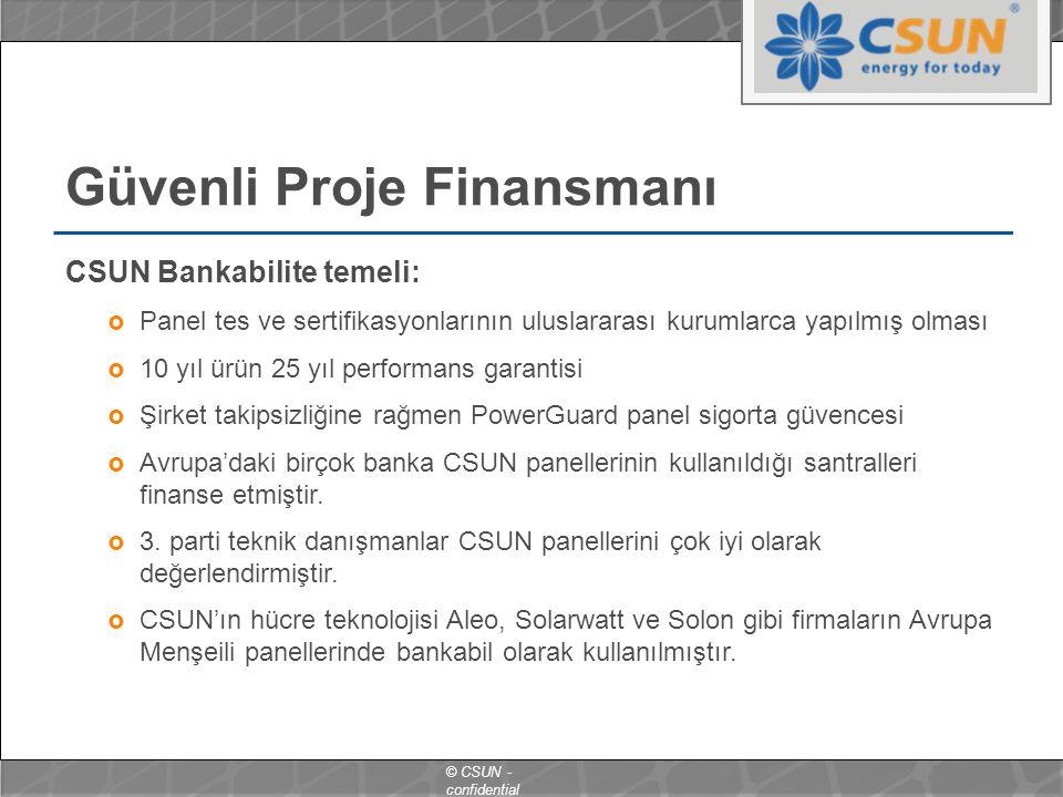 Güvenli Proje Finansmanı