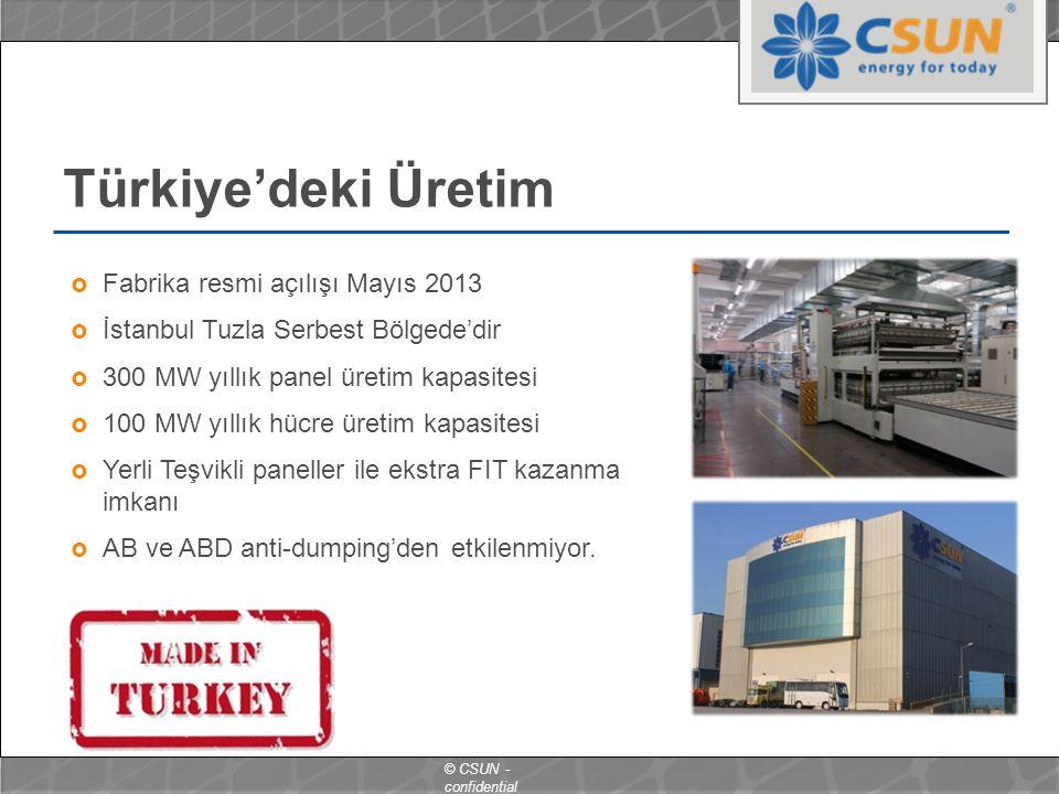 Türkiye'deki Üretim Fabrika resmi açılışı Mayıs 2013