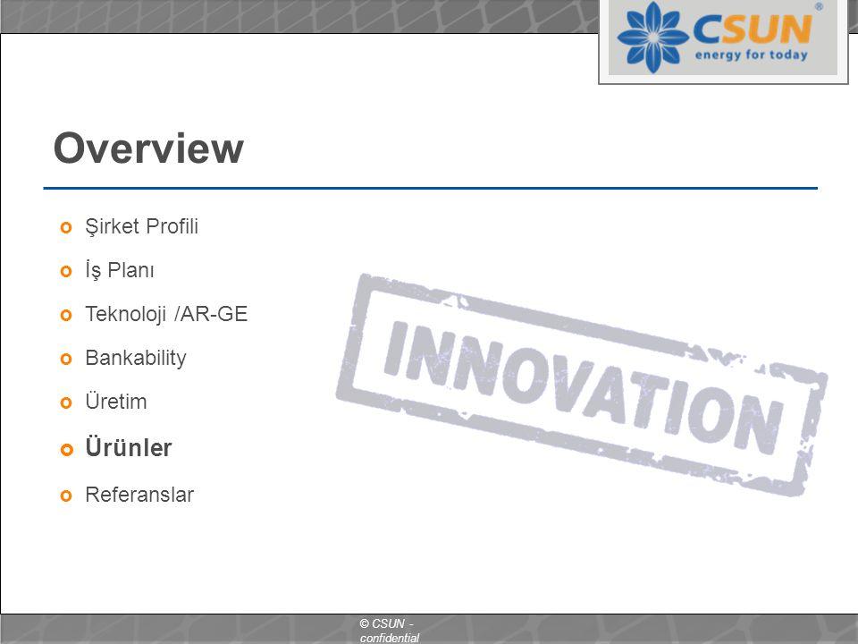 Overview Ürünler Şirket Profili İş Planı Teknoloji /AR-GE Bankability