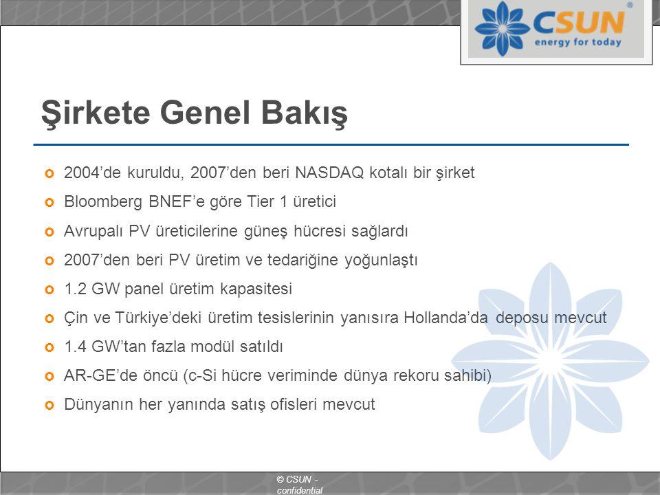 Şirkete Genel Bakış 2004'de kuruldu, 2007'den beri NASDAQ kotalı bir şirket. Bloomberg BNEF'e göre Tier 1 üretici.