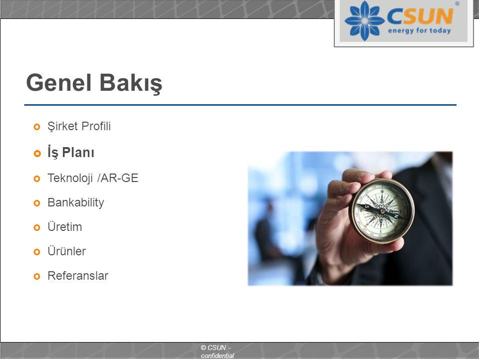 Genel Bakış İş Planı Şirket Profili Teknoloji /AR-GE Bankability