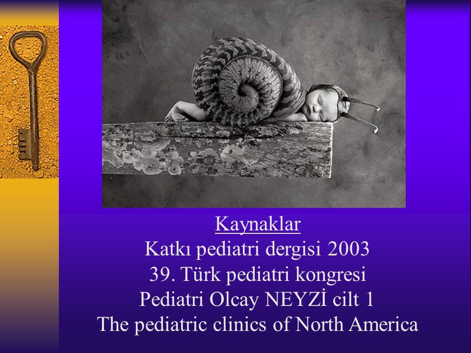 Katkı pediatri dergisi 2003 39. Türk pediatri kongresi