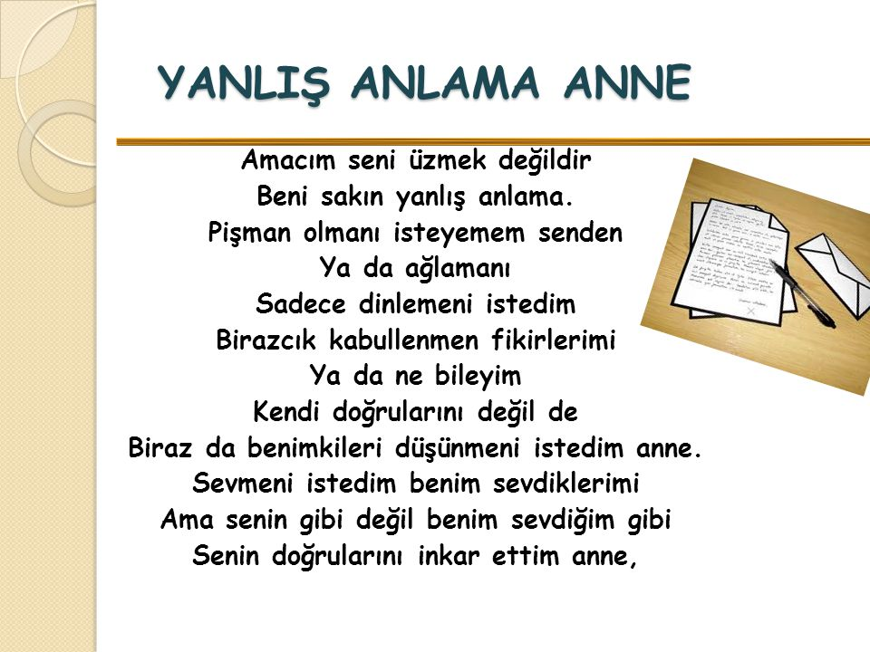 YANLIŞ ANLAMA ANNE