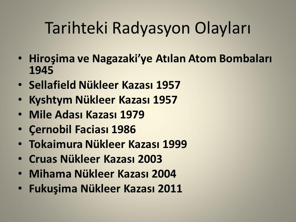Tarihteki Radyasyon Olayları
