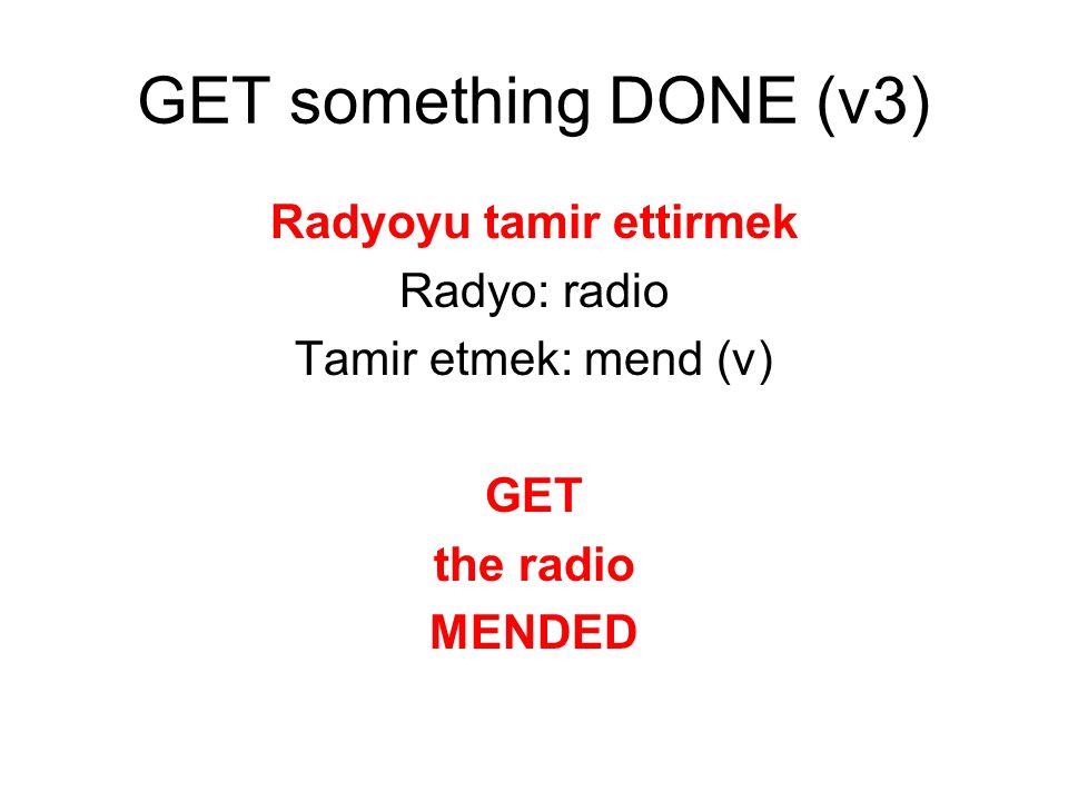 Radyoyu tamir ettirmek