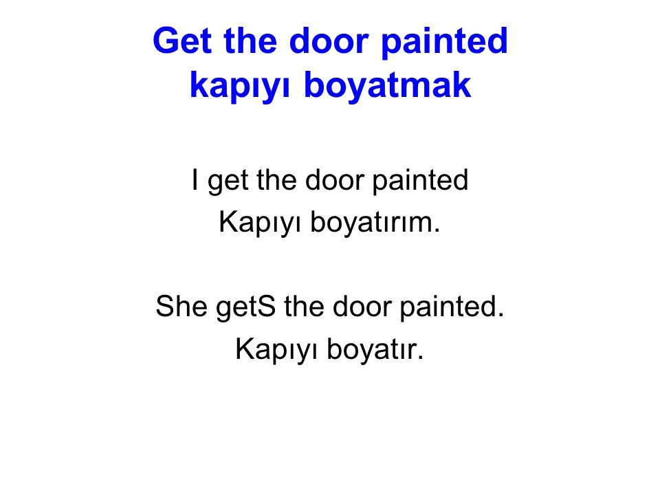 Get the door painted kapıyı boyatmak