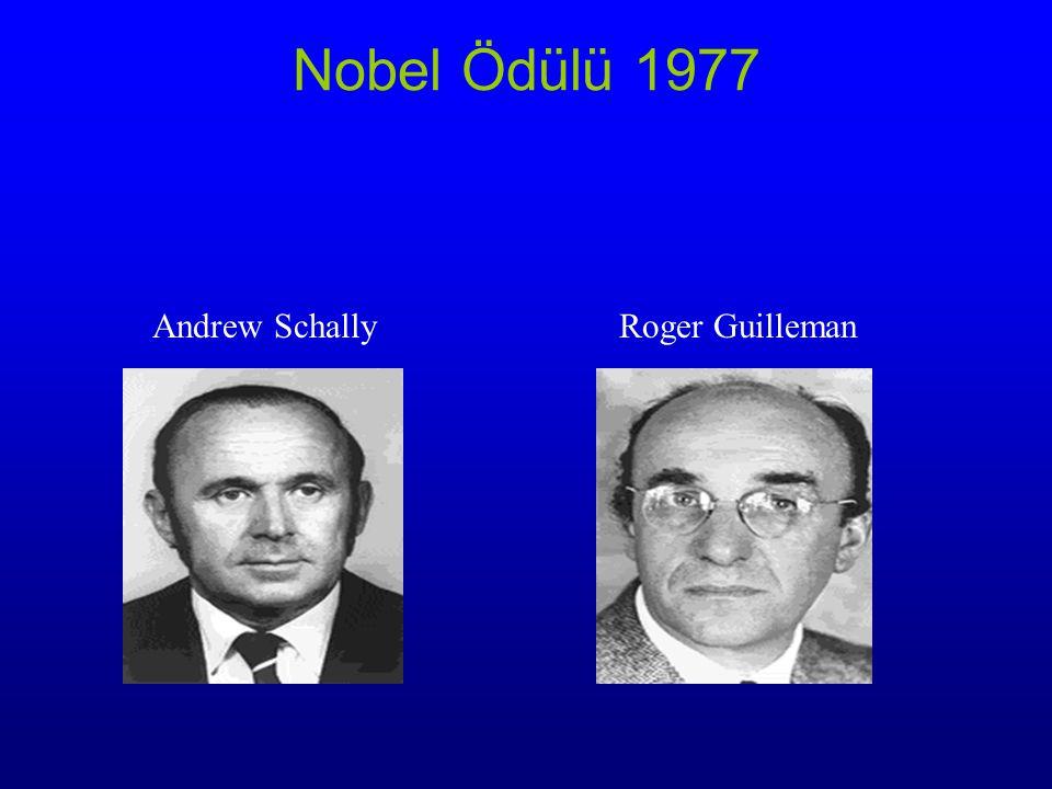 Nobel Ödülü 1977 Andrew Schally Roger Guilleman