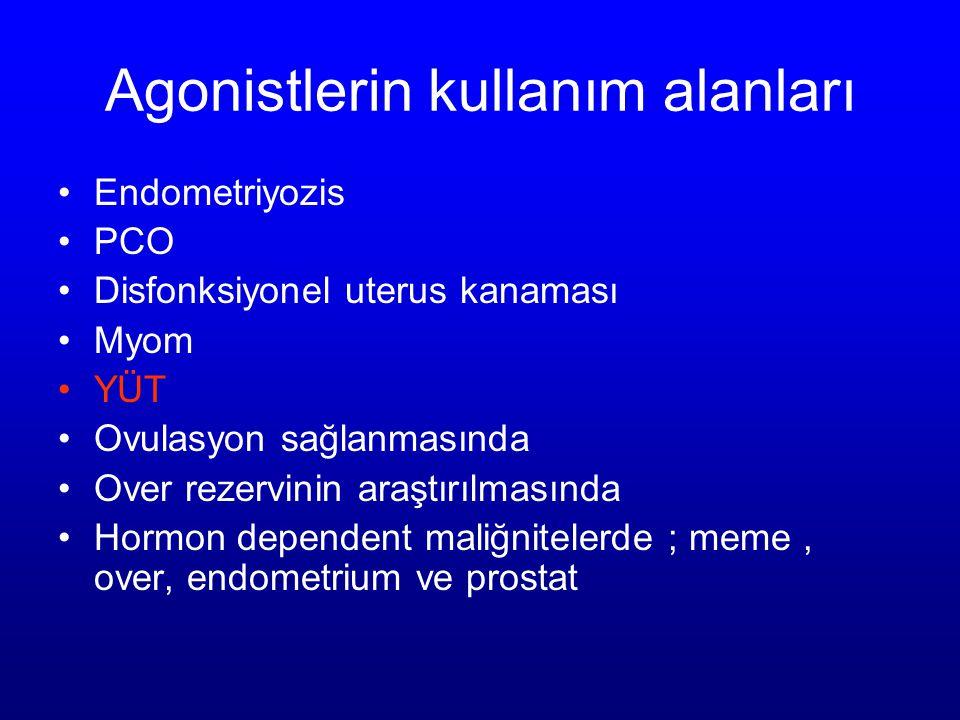Agonistlerin kullanım alanları