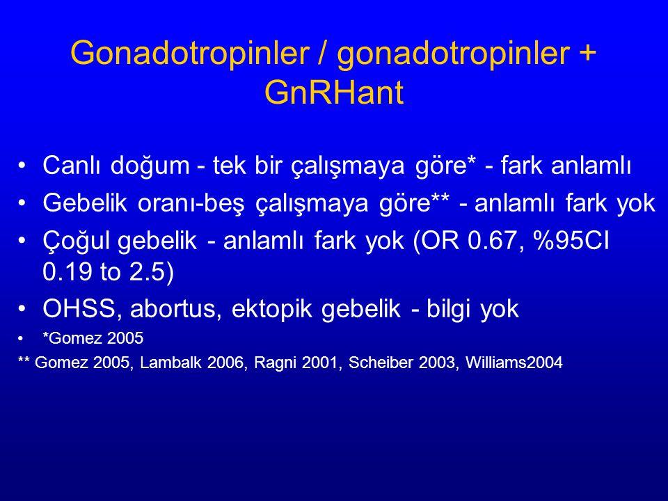 Gonadotropinler / gonadotropinler + GnRHant