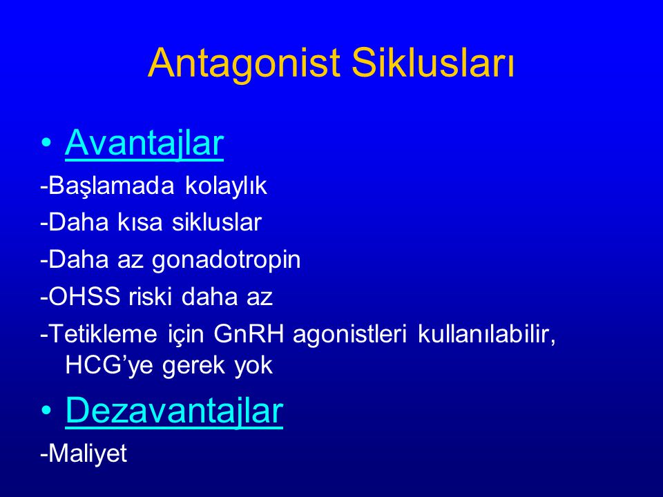 Antagonist Siklusları
